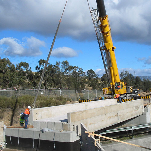 Concrete works for Wambo coal prep plant