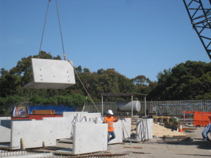 Lifting of the Precast Storage Units